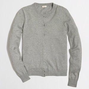 J. Crew Factory Cotton Caryn Cardigan Sweater